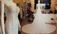 Sleeveless Wedding Dress with Big Detachable by DreamDressesByPMN