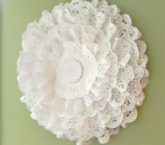 Paper doilies cut and layered - party decorations, gift bag embellishment, cards or scrapbooks!