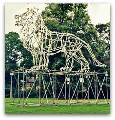 Ben Long scaffolding sculpture. This would look great on the empty plinth in Trafalgar Square!