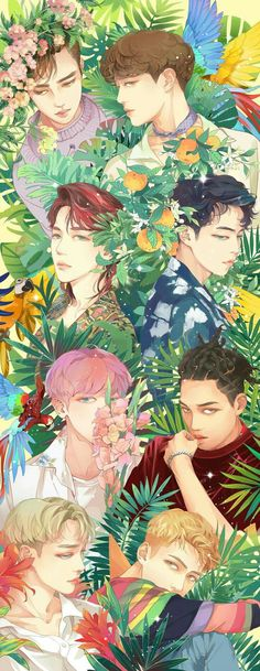 Find images and videos about kpop, exo and chanyeol on We Heart It - the app to get lost in what you love. Kpop Exo, Exo Ot9, Exo Chanyeol, Exo Anime, Anime Guys, Anime Art, Jonghyun, Chibi Exo, Fan Art