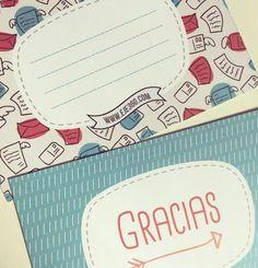 Tarjetas de agradecimiento