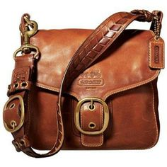 COACH~$448~Whiskey~LEGACY LEATHER~BLEEKER TATTERSALL~11419~BROWN BRASS PURSE BAG