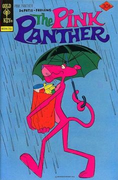 Pink Panther --- You could try returning (& or replacing) my comic books. Vintage Disney Posters, Vintage Cartoons, Vintage Comic Books, Vintage Comics, Cartoon Wallpaper, Retro Wallpaper, Rosa Panther, Panthères Roses, Pink Panter