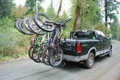 Hang5 and Shuttle Pad loaded and ready for MTB action. See more at http://www.softride.com/rack-products/specifications/softride_hang5_bike_rack