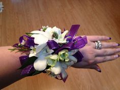 Orchid Corsage for Prom