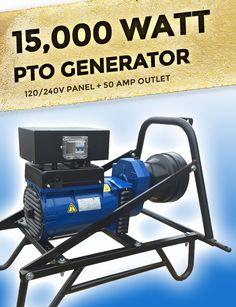 16000 Max Starting 15000 Running Watts Tractor Driven Pto