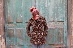 Moving Sale Miss Sixty Luxury Couture Fake Fur Animal print coat sold by TheMuppettoy, $46.00