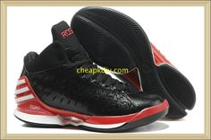 check out 4fd31 0582e Adidas Adizero Rose Black Red Basketball Shoes website full of shoes for off