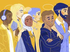Diversity at college designed by Valeria Diaz. People Illustration, Illustrations, Msw Programs, City People, Saint Charles, Show And Tell, Vulnerability, Diversity, Brave
