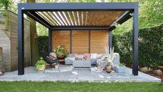 Un salon de jardin à l'abri d'une pergola - Côté Maison Pavillion, Pool Landscaping, Garden Planning, My Dream Home, Balcony, Terrace, Porch, Castle, Deck