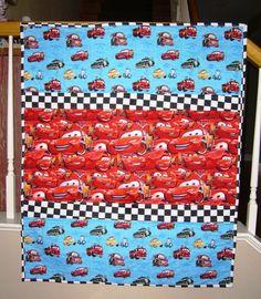 Disney's Pixar's Animated Cars 95 by sleepybearbabyquilts on Etsy, $88.00