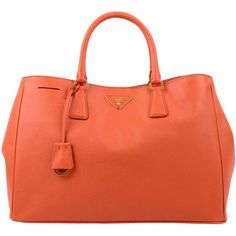 PRADA Saffiano Tote Bag ❤ I always use orange bags in the spring and summer!!!
