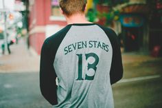 The Classic is a 3/4 length t-shirt with a 7/S monogram on front left crest and large 'Seven Stars 13' print on the back.  WRAP (Worldwide Responsible Accredited Production) Certified