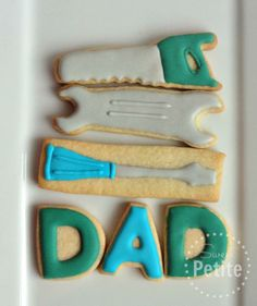 Father's Day Tools                | Sweet Petite Dad, Green, Blue, tools, saw, wrench, screw driver, letters