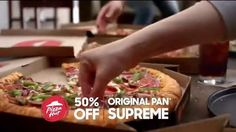 WATCH the VIDEO Pizza Hut 50% off all menu-priced pizzas online TV commercial 2017 • .