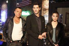 Tom Sizemore, Tom Ellis, and Lauren German in Lucifer (2015)