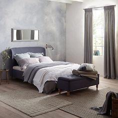Rayner brown tweed upholstered bed frame herringbone for John lewis bedroom ideas