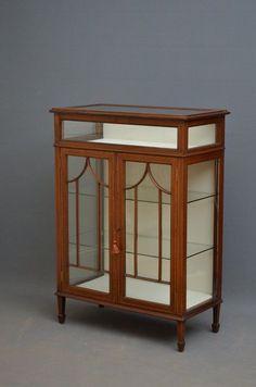 Unusual Edwardian Mahogany Display Cabinet