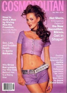 Kate Moss with cleavage?!?! You don't say! Vintage Cosmo cover from May 1993.