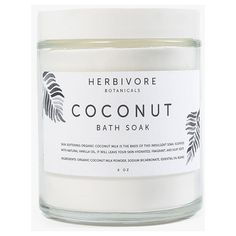 Herbivore Coconut Soak ($18) ❤ liked on Polyvore featuring beauty products, bath & body products, body cleansers, beauty, fillers, makeup, cosmetics, white, coconut and herbivore
