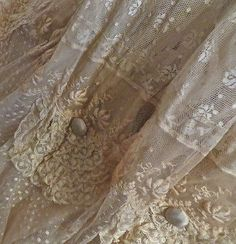 Lavish Lace Victorian Wedding Gown w Provenance to Study Repair from Museum 1895 | eBay