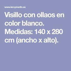 Visillo con ollaos en color blanco. Medidas: 140 x 280 cm (ancho x alto). Net Curtains, White Colors