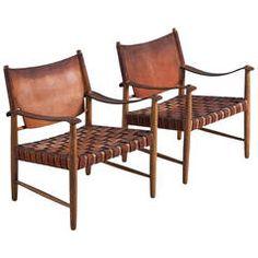 Safari Chairs in Cognac Leather