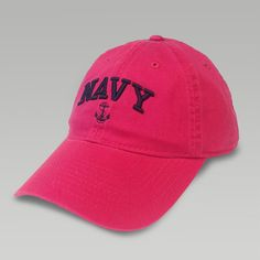 The Navy Women Arch Hat by Legacy. Check out our entire collection of Navy hats, apparel and accessories. Us Navy Women, Navy Corpsman, Navy Cap, Military Personnel, Baseball Hats, Clothes For Women, My Style, Pink, Accessories