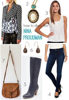 How to dress like Nina Proudman... Still have a couple of pairs of these boots available at bomboclothing.com    <3