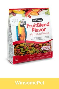 ZuPreem FruitBlend for Large Birds Bird Food 35 lbs Wild Bird Food, Tasty Bites, Cockatoo, Natural Flavors, Vitamins And Minerals, Amazons, Snack Recipes, Treats, Homemade