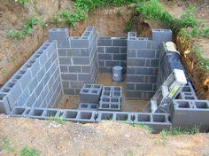 Root cellar construction. Everyone in tornado alley should have one.