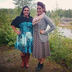 Photoshooting out in the wild! The weather was a bit grey but we didn't mind. 😄 #photoshooting #models #dressday #dressedup #polkadotdress #valokuvaus #kuvauspäivä #ulkosalla #mallit #misswindyshop