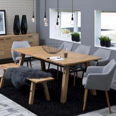 esstisch eiche schwarz echtholz esstisch esszimmer sessel wohn esszimmer einrichtungsideen wohnzimmer badezimmer