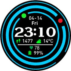 by CactusClone Source: Simple Amazfit Watchface Builder Wearable Device, Blue Rings, Simple