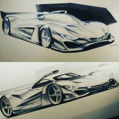 to the days when cars ruled Le Mans with this sketch inspired by the Mercedes-Benz CLR . Car Sketch, Love Car, Slc, Automotive Design, Mercedes Amg, Le Mans, Concept Cars, Cars And Motorcycles, Race Cars