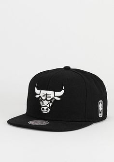 Mitchell & Ness Snapback-Cap Black & White NBA Chicago Bulls - Accessoires Caps Snapback Caps