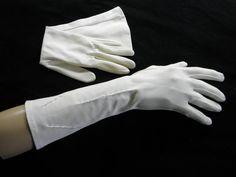 Vintage 1950s 60s Ivory Coat Length Gloves  by BlackBirdVintiques