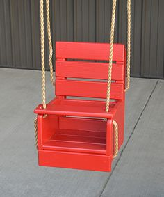 Red Pine Baby Swing by A&L Furniture #zulily #zulilyfinds