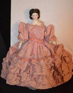 Antique Doll Miniature Fancy Hair Style Unusual Dollhouse