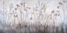 Wildflowers Lining the Trail - Silver Lavender - Tavlor på canvas - Photowall
