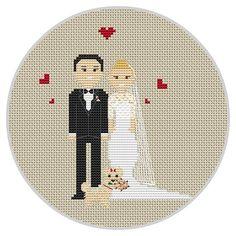 Custom wedding cross stitch pattern Wedding gift for by Xrestyk