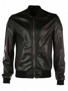 DOLCE   GABBANA Dolce   Gabbana Black Leather Bomber.  dolcegabbana  cloth   coats-jackets 354b869fcd