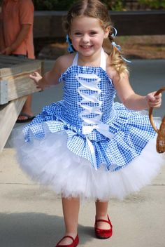 Custom Dorothy Wizard of Oz inspired tutu dress costume size 18 months 24 mos 12 m 2T 3T 4T 5/6. $99.00, via Etsy.