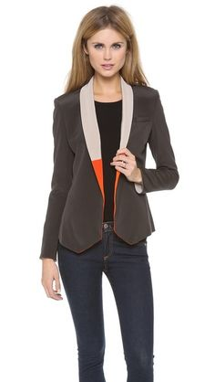 LAVEER Slim Blazer   selected by jamesdrygoods.com for the made in america: contemporary project   #madeinusa  