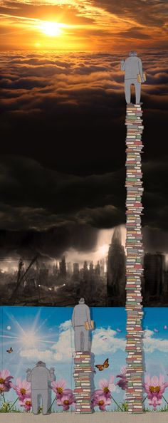 This is really powerful. Reading is super important and I think this captures a very interesting view on the concept of knowledge.Reading opens the world to you and gives you new perspectives on life. I Love Books, Good Books, Books To Read, My Books, Reading Books, Reading Art, Book Lovers, Book Worms, Book Art