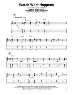 Michel Legrand: Watch What Happens - Partition Tablature Guitare - Plus de 70.000 partitions à imprimer !