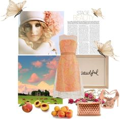 """peaches"" by bodangela ❤ liked on Polyvore"
