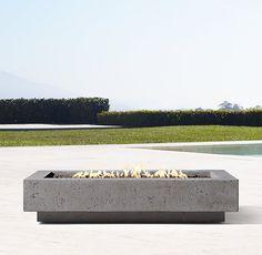"""56"""" Ixtapa Natural Gas Rectangular Fire Table"""
