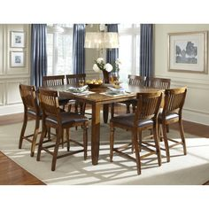 Rochester Counter Height 9Pcdining Set  Dining Delight Amazing 9 Piece Dining Room Decorating Inspiration