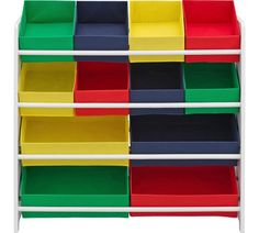 Buy 4 Tier White Child's Storage Unit with Bins at Argos.co.uk, visit Argos.co.uk to shop online for Children's toy boxes and storage, Children's furniture, Home and garden